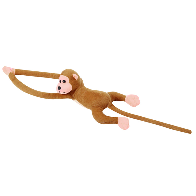 60cm Lovely Curtains Baby Sleeping Appease Animal Long Arm Tail Monkey Stuffed Doll