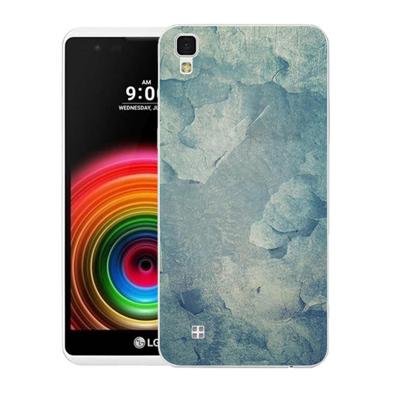 Trường Hợp điện thoại cho LG X Trường Hợp Điện K220 Vỏ Điện Thoại LS755 Marble In Back Cover đối với K220 LS755 Điện Thoại Da Silicone TPU