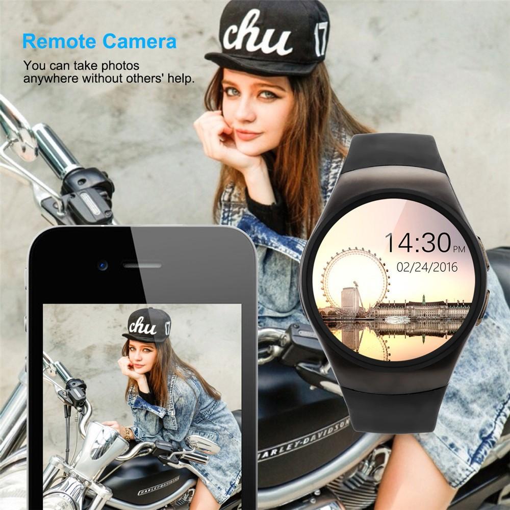 2016 New Product KW18 Smart Watch Android IOS Digital watch Bluetooth Reloj Inteligente SIM Round Heart Rate Monitor Watch Clock25