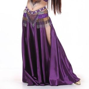 Image 5 - Traje de dança do ventre feminino, fantasia de dança do ventre com 2 lados, saia oriental, roupas de dança do ventre saia,