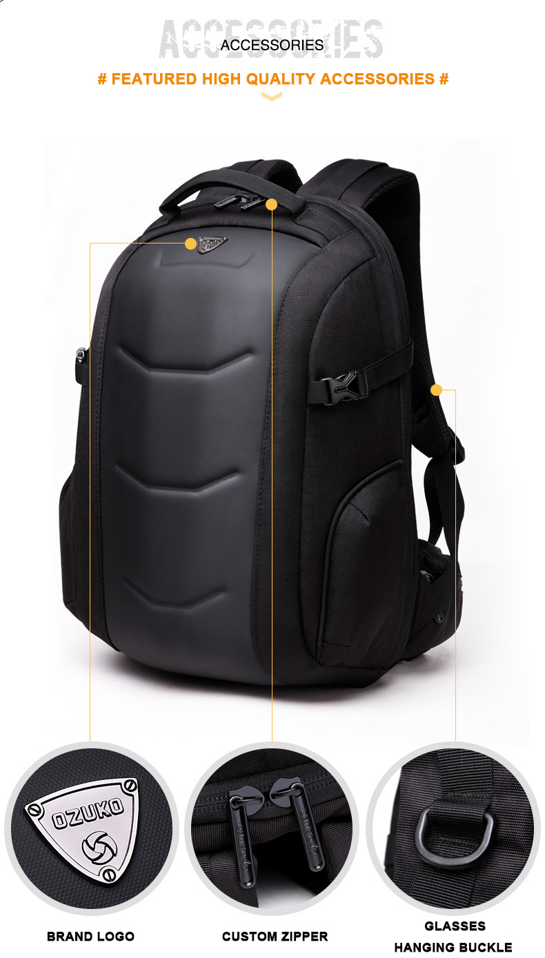 c8beb902fa OZUKO New Original Backpack Men Business Laptop Backpack ...