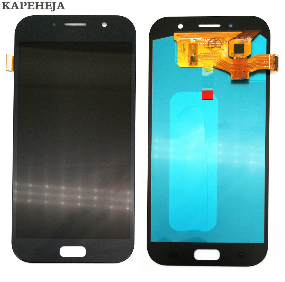 Super AMOLED LCD Display For <font><b>Samsung</b></font> Galaxy A7 2017 A720 <font><b>A720F</b></font> A720M LCD Display Touch <font><b>Screen</b></font> Digitizer Assembly image