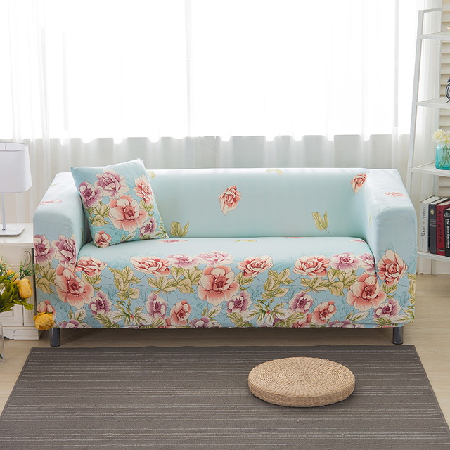 Sofa Covers Elastic Spandex Printed Light Green Sofa Covers Polyester  Protector Flowers Pattern Sofa Covers V20