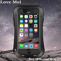 Original Love Mei Powerful Case For Apple iPhone 6 6s 4.7'' Waterproof Shockproof Aluminum Cases Cover + Tempered Glass
