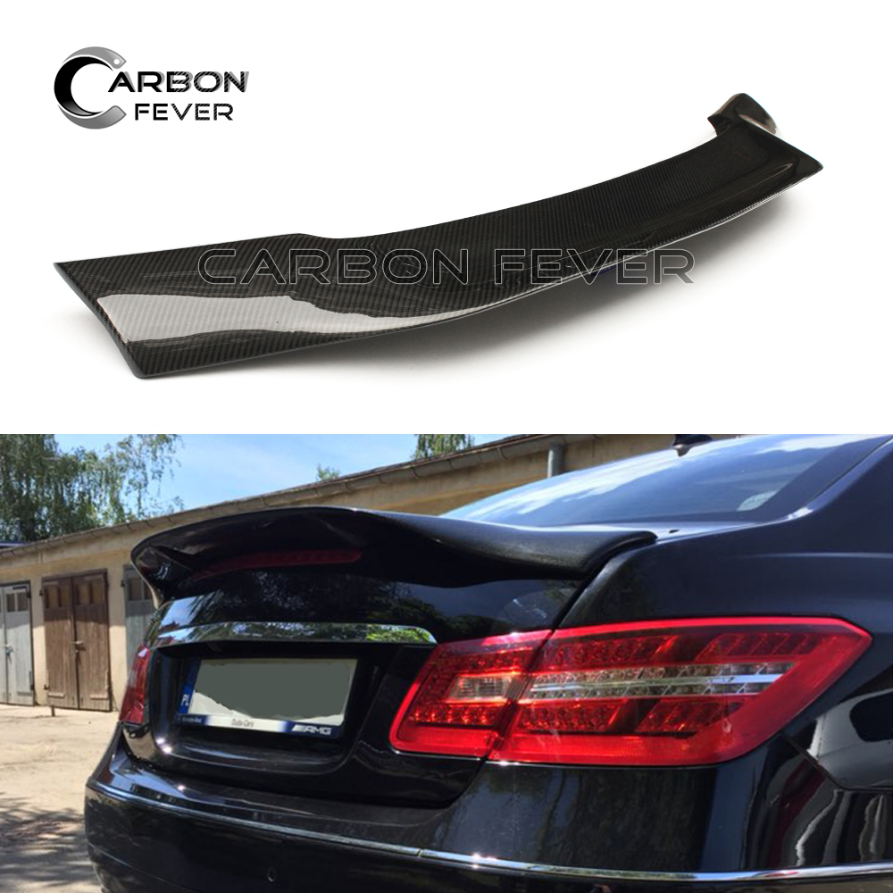 W207 C207 Carbon Fiber Trunk Spoiler AMG Wing For Mercedes E Class Coupe 2010 - 2017 E200 E250 E300 mercedes carbon fiber trunk amg style spoiler fit for benz e class w207 2 door 2010 2015 coupe convertible vehicles