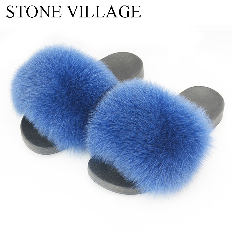 Plus Size 44 Summer Women Slippers Shoes Fox Fur Slippers Casual Outdoor Slides Flat Shoes Plush Flip Flops Shoes Woman bostanten wristlet split leather men wallets zipper coin purse holders design leather male wallet large capacity wallet for men