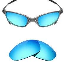 cdb36e406 Mryok + POLARIZADA Lentes de Substituição de Resistir À Água Do Mar para Oakley  Juliet X Metal-Óculos De Sol De Gelo Azul