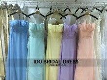 2016 Real Photo 5 Colors Convertible Style Bridesmaid Dresses vestido de festa de casamento Chiffon Formal Party Gowns IDOB02