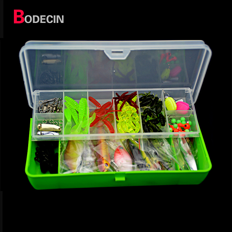 101PCS Fly Fishing Lures Tackle Mixed Hard Baits Soft Popper Crankbait VIB Topwater China Floating Hooks Set With Box Pond Carp super value 101pcs almighty fishing lures kit with mixed hard lures and soft baits minnow lures accessories box