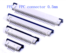 цена на 2000pcs FFC/FPC connector 0.5mm 4 5 6 7 8 10 12 14 16 18 20 50Pin Drawer Type Ribbon Flat Connector Top Contact reel packaging