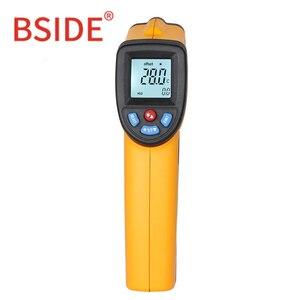 Image 2 - BSIDE GM320 ללא מגע דיגיטלי לייזר אינפרא אדום מדחום LCD תצוגת C/F בחירת טמפרטורת IR בודק עם 4 כפתור
