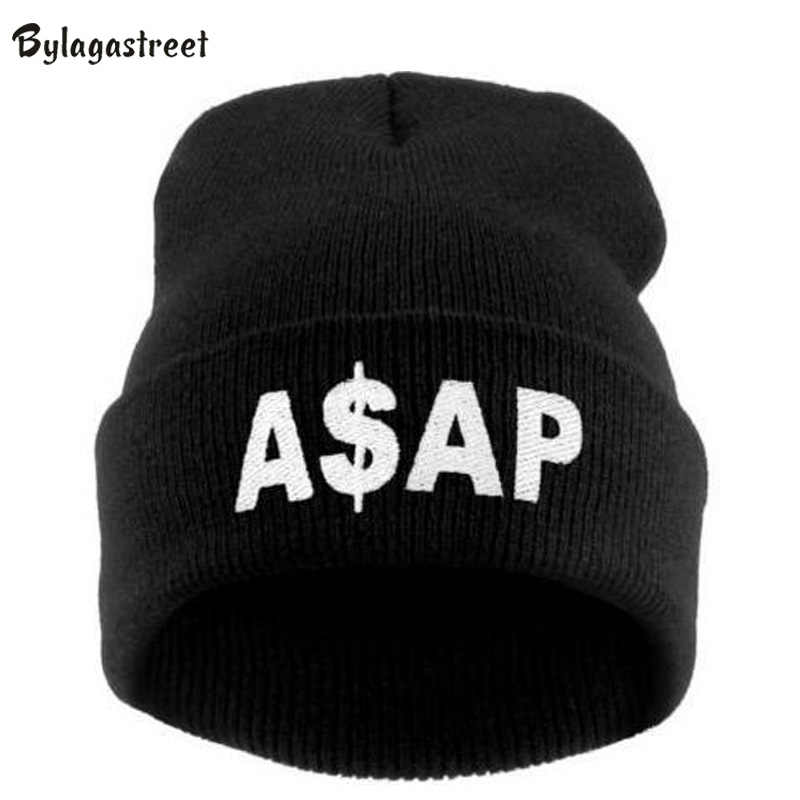 a54ed8944 2018 Letter ASAP Women and Men Fluorescence Candy Color Hip Hop Casual  Beanie Hats Hot Sale Acrylic Bonnet Caps Muti Color