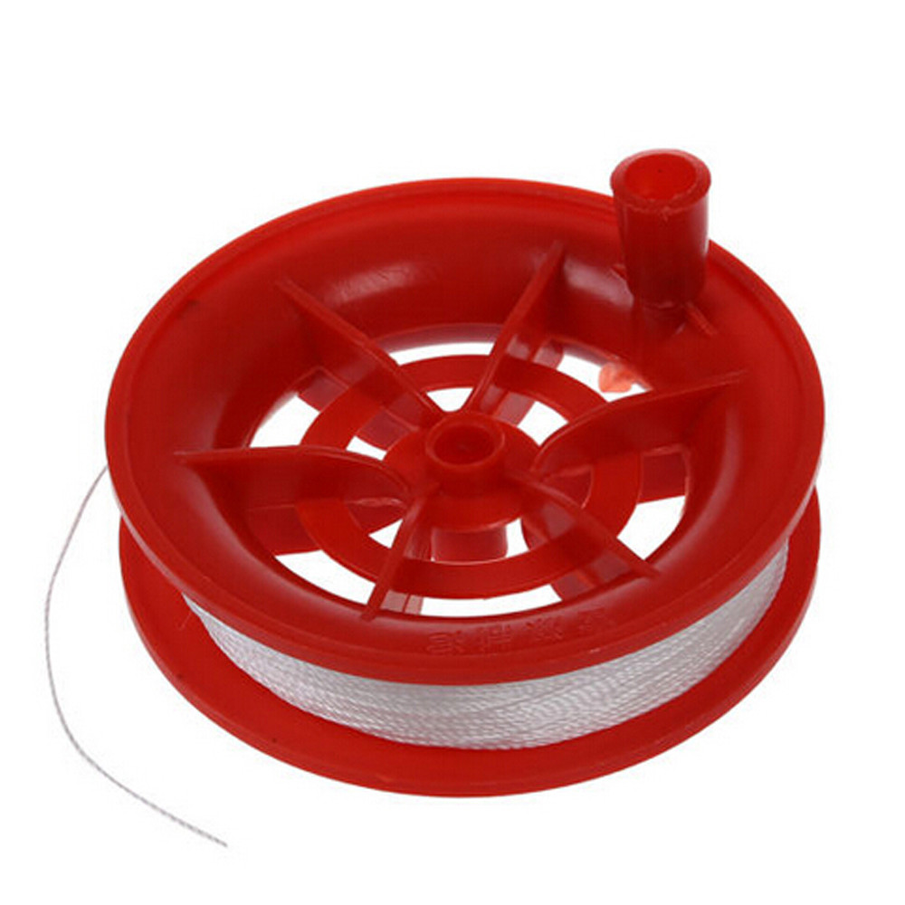New 100m Twisted String Line Red Wheel Kite Reel Winder High Quality Gift Drop Shipping Always Buy Good Outdoor Fun & Sports