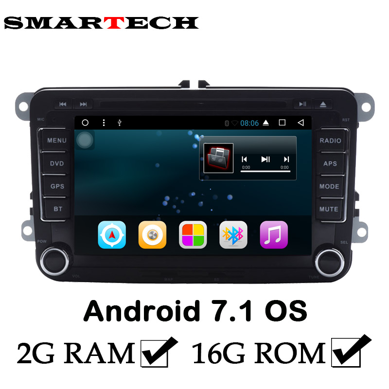 2Din Android 7.1 For VOLKSWAGEN 2GB RAM Car Stereo Radio DVD GPS Wifi Aux VW GOLF POLO JETTA TOURAN PASSAT TIGUAN SCIROCCO Caddy joying px5 octa 8 core 2gb ram android 8 0 car radio player for vw golf 5 6 polo passat jetta tiguan touran eos gps navigation