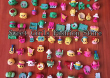 50pcs/lot Shopkins action figure toys kids' DIY model toy for kid's Christmas gift
