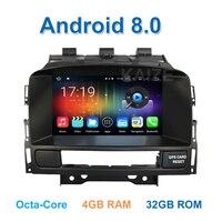 4 ГБ Оперативная память Android 8,0 dvd плеер автомобиля радио для Vauxhall Opel Astra J Buick Verano с WiFi BT gps