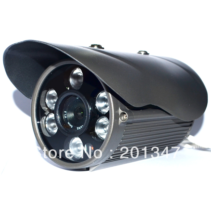 Free Shipping CCTV 1/3 CMOS 600TVL 6 Array IR Leds 6mm lens Outdoor Waterproof Security IR Camera 1 3 800tvl ir color cctv outdoor security cmos camera 6mm board lens 36 ir leds night vision