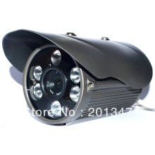 Free Shipping CCTV 1/3 CMOS 600TVL 6 Array IR Leds 6mm lens Outdoor Waterproof Security IR Camera