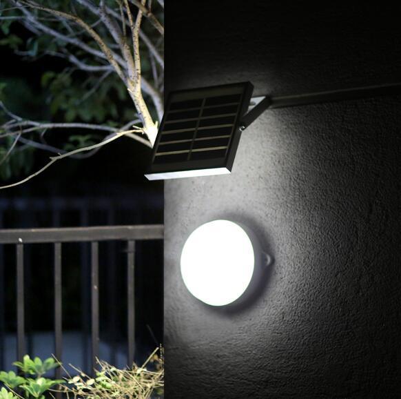 9 Led Solar Lamp Sensor Outdoor Waterproof Solar Power Led Light Wall Street Garden Security Lights