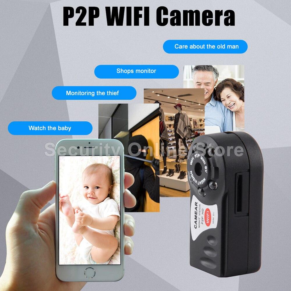 Mini Q7 Camera 480P Wifi DV DVR Wireless IP Cam Brand New Mini Video Camcorder Recorder Infrared Night Vision Small Camera