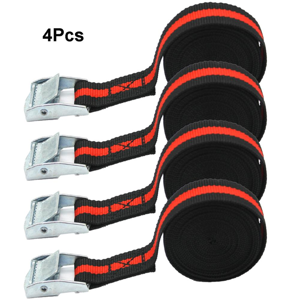 Pack Of 4 Lashing Straps With Buckle Good For Bonus Carry Case Superior Strength Moving Nylon Blet For Truck, Trailer Motorcycle