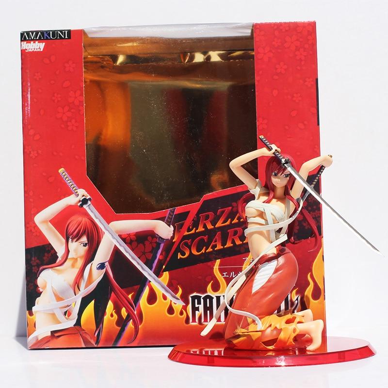 Brinquedo Figura PVC Figuras Fairy Tail Erza Scarlet Arrematar Versão figura Frete Grátis