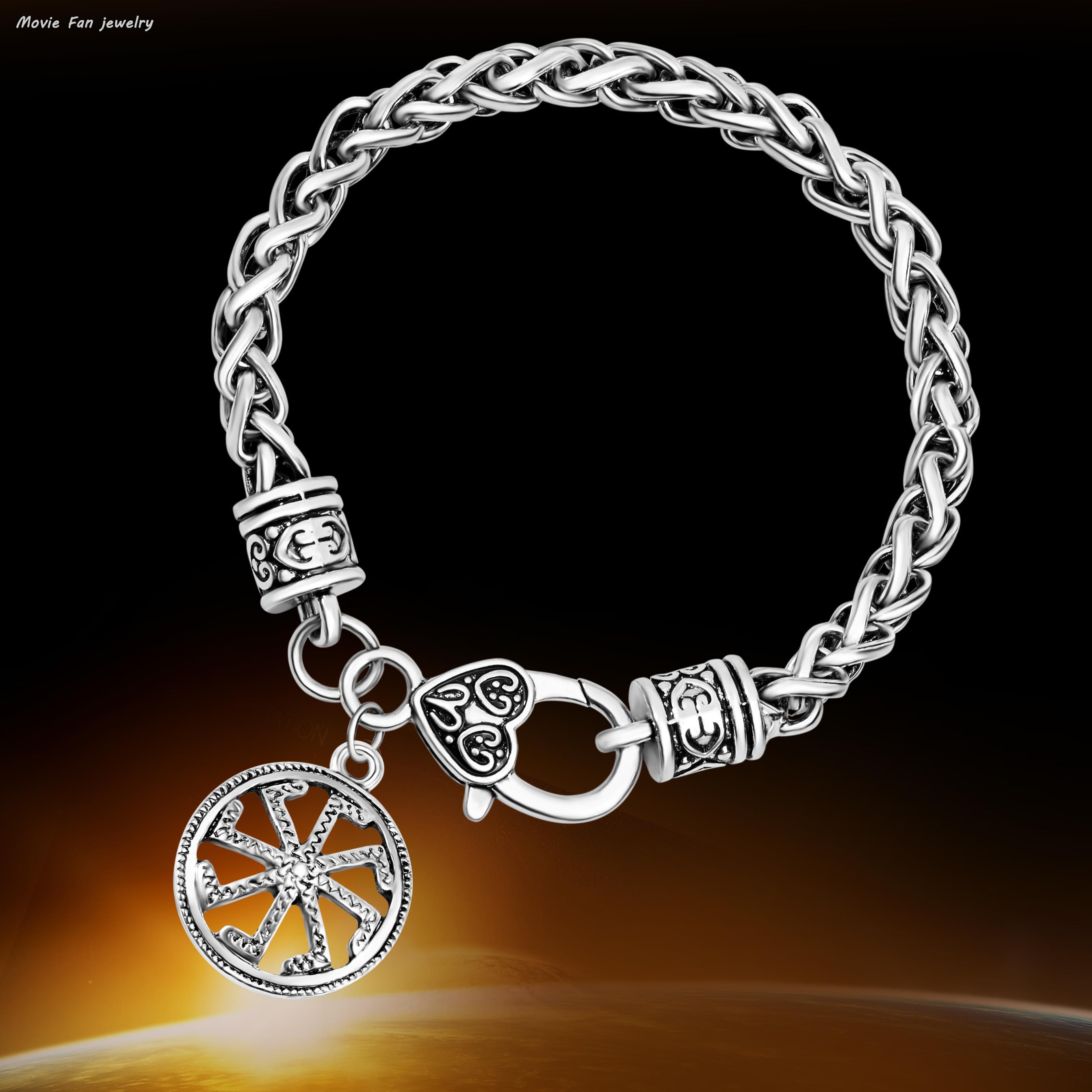 ed3f10df2fa51 US $5.88 |Kolovrat pendant Russian Slavic Sun Talisman Round Power Charm  Bracelets Ethnic Women And Men bulgaria jewelry-in Charm Bracelets from ...