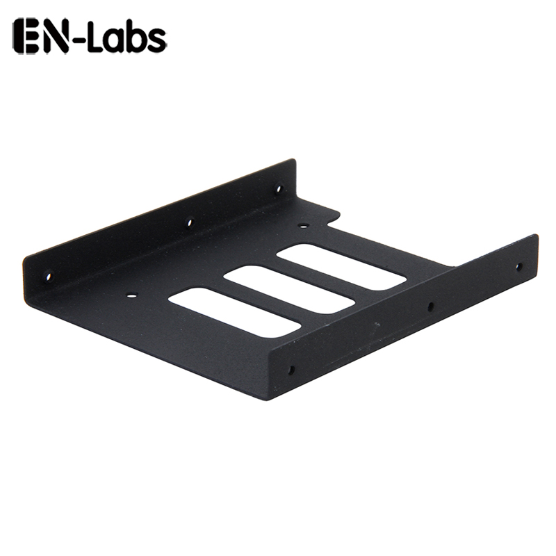 En-Labs New 2.5 SSD HDD dock to 3.5 hard drive bay metal mounting kit adapter, bracket converter for PC Holder - 1pc En-Labs New 2.5 SSD HDD dock to 3.5 hard drive bay metal mounting kit adapter, bracket converter for PC Holder - 1pc