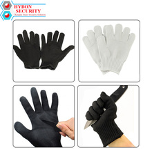 HYBON 1 Pair Anti-cutting Hand Protection Mesh Anti Cut Glove Outdoor Hunting Fishing Gloves Self Defense Protective Knife