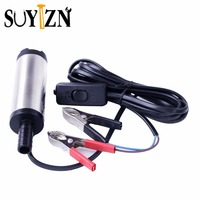 DC 12V High Quality Diameter 3 8CM Portable Submersible Diesel Fuel Water Oil Pump On Off