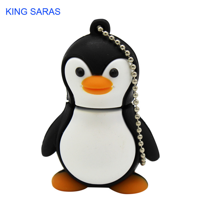 KING SARAS Cartoon Cute Penguin Style Usb2.0 4GB 8GB 16GB 32GB 64GB Pen Drive USB Flash Drive Creative Usb Stick Pendrive