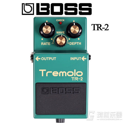 Boss Audio TR-2 Vintage Tremolo Pedal with Rate, Depth, and Wave Controls with Free Bonus Pedal Case