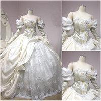 HistoricalCustomer made Victorian dress 1860s Civil war Dress Vintage Cosplay dresses Scarlett dress SZ US6 36 V 295