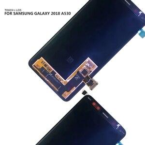 Image 4 - AMOLED LCD لسامسونج غالاكسي A8 2018 A530 A530F A530DS A530N SM A530N شاشة تعمل باللمس محول الأرقام LCD عرض الجمعية أدوات مجانية
