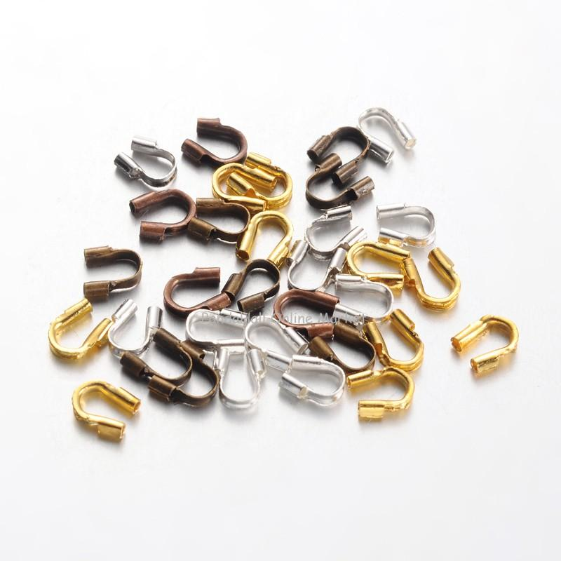 Environmental Rack Plating Brass Wire Guardians, Lead Free & Cadmium Free & Nickel Free, Mixed Color, 5x4x1mm, Hole: 0.5mm