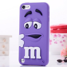 M&M'S Chocolate 3D Cartoon Candy Rainbow Beans Soft Silicone Rubber Case for iPhone 4S 5 5S 6 6S 7 8 X Plus