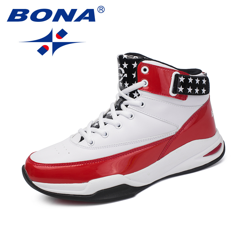 BONA New Arrival Classics Style Men Basketball Shoes Lace Up Men Athletic Shoes Outdoor Jogging Shoes High Upper Sneakers Shoes colour block lace up splicing athletic shoes