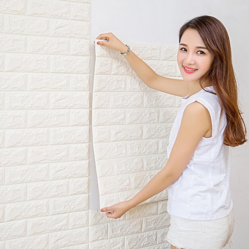 70cmX77cm PE Foam Decorative 3D Sticker Self Adhesive Wallpaper DIY Brick Living Room Kids Safty Bedroom Home Decor Wall Sticker