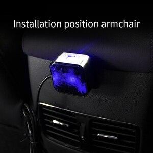Image 4 - חדש רכב סטיילינג USB פנים קישוט אור שלט רחוק לסובב כוכב שמיים לייזר מנורה אוטומטי הקרנת מוסיקה אווירה אור