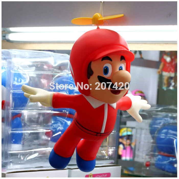 24cm Fly Helicopter Super Mario PVC Toy Doll Anime Manga Figure,1pcs/pack24cm Fly Helicopter Super Mario PVC Toy Doll Anime Manga Figure,1pcs/pack