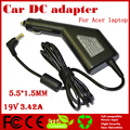 JIGU High quality DC Power Car Adapter Charger 19V 3.42A For Acer Laptop 5.5*1.5MM 65W Input DC11-15V max 10A Free shipping