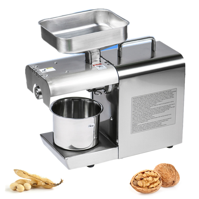 Promotion Price Peanuts Sesame Soybean Oil Press Machine Oil Extraction Expeller Presser Stainless Steel 110V Or 220V Available 110v or 220v oil press machine nut seed automatic stainless all steel presser high oil extraction
