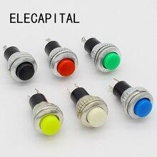 6 шт. черный/зеленый/желтый/синий/белый/красный выключен-Мгновенный На 0.5A 250VAC пульт дистанционного управления кнопочные переключатели 10 мм