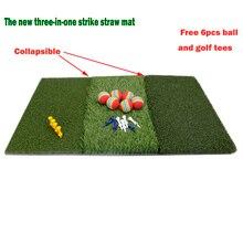 عشب الغولف حصيرة تشمل ضيق الكذب الخام و الممر للقيادة ووضع ممارسة الغولف والتدريب 3 in 1 العشب العشب حصيرة