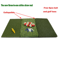 Golf Grass Mat Includes Tight Lie Rough and Fairway for Driving and Putting Golf practice and Training 3 in 1 Turf Grass Mat