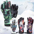 Boodun warm gloves winter sports gloves men and women outdoor waterproof cold thick five fingers ski gloves