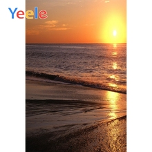 Yeele  Waves Seaside Sunset View Photographic Backdrops Summer Scenery Decor Photography Backgrounds Customized For Photo Studio