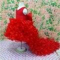 Elegant Flower Girl Bow Dress Weddings Trailing Baby Christening Dress Princess Tutu Mermaid Dresses Girls Kids Child Clothing
