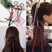 Ribbon Hair Bow AWAYTR Girls Elastic Hair Bands Rope Scrunchie Ponytail Holder Gum For Hair Accessories Hairstyle Girl Headband