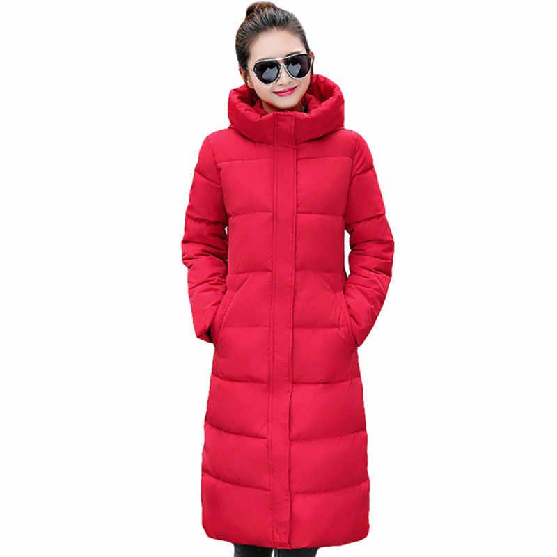 5839868ba4e ... Модная зимняя куртка женская утепленная женская куртка хлопковое пальто  парки длинные jaqueta feminina inverno Женское пальто ...